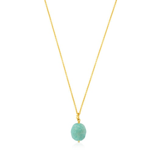 Vermeil Silver Terra Necklace with Amazonite