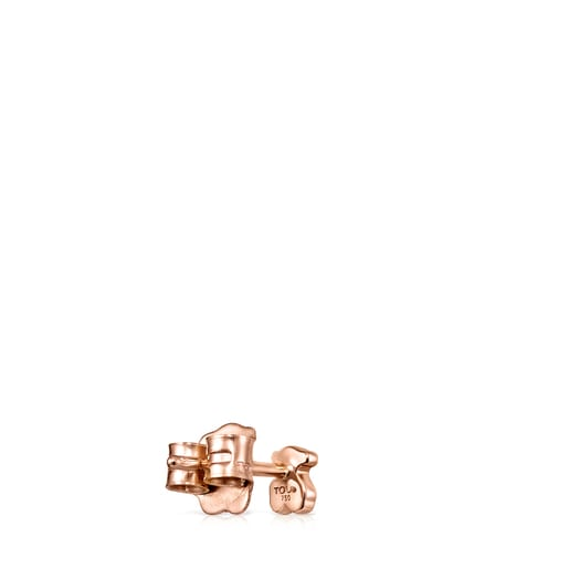 Rose Gold Les Classiques bear Earring with Diamonds