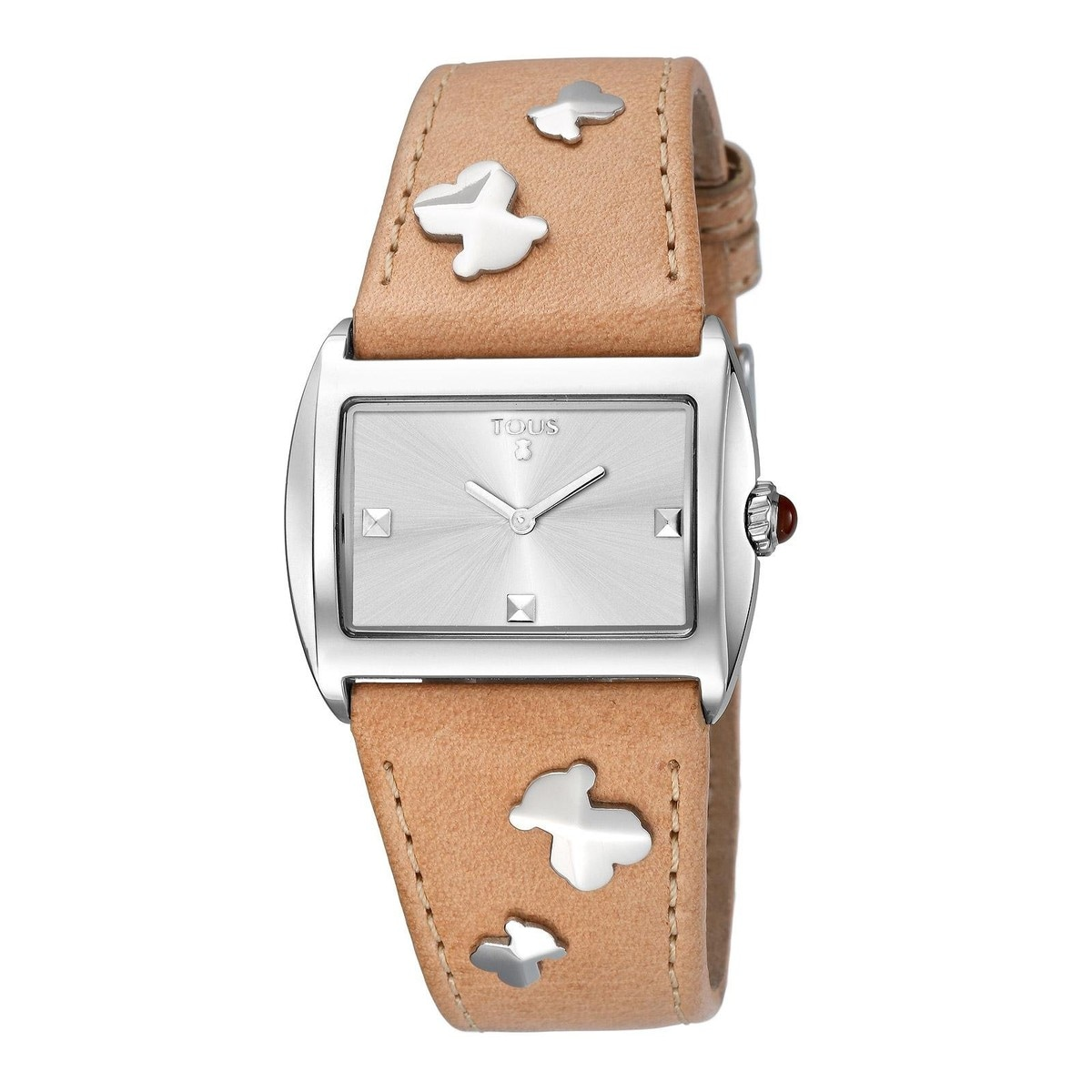 Steel Rocky Watch with camel colored Leather strap