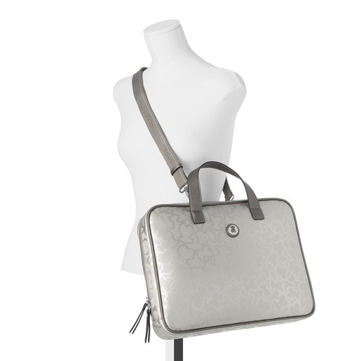 Silver colored Kaos Shiny City bag