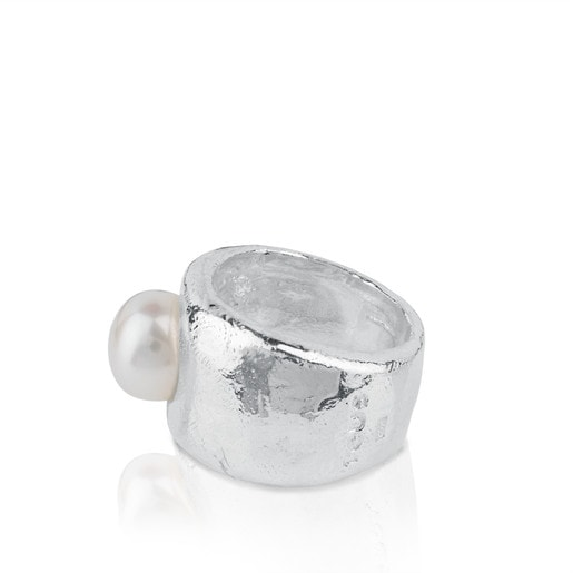 Silver Duna Ring with Pearl