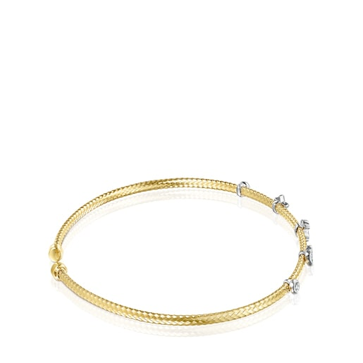 Light Bracelet in Gold with Diamonds