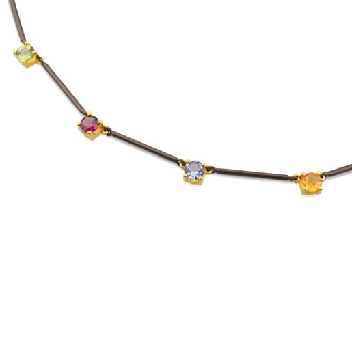 Gold and Titanium Mix Titanio Necklace