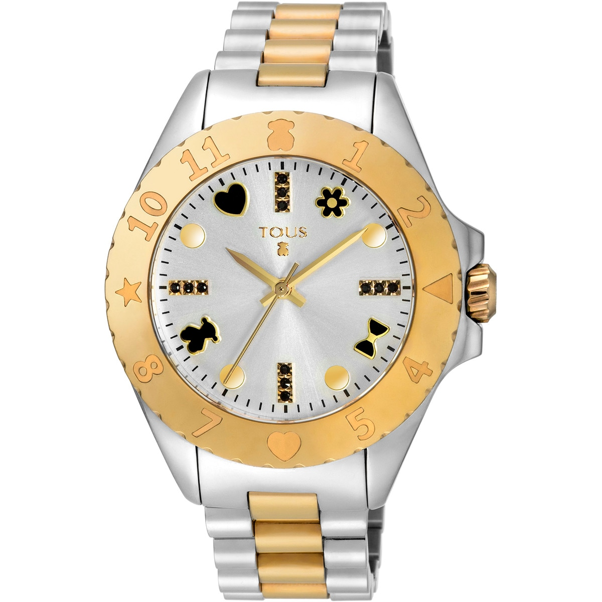 Two-tone gold IP/Steel New Motif Watch