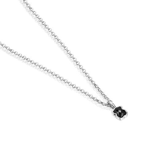 Mini Onix Necklace in Silver with Onyx