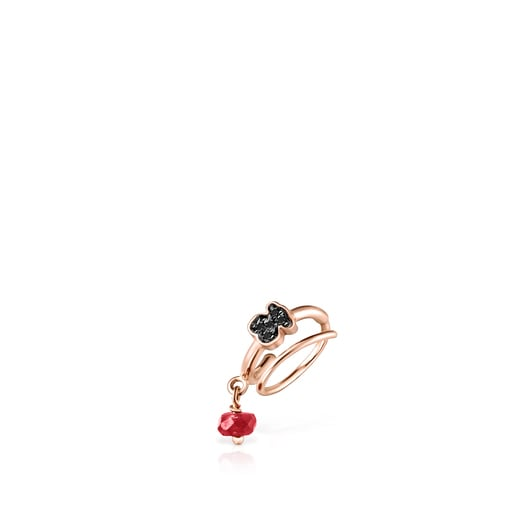 Motif Earcuff in Rose Silver Vermeil with Spinels