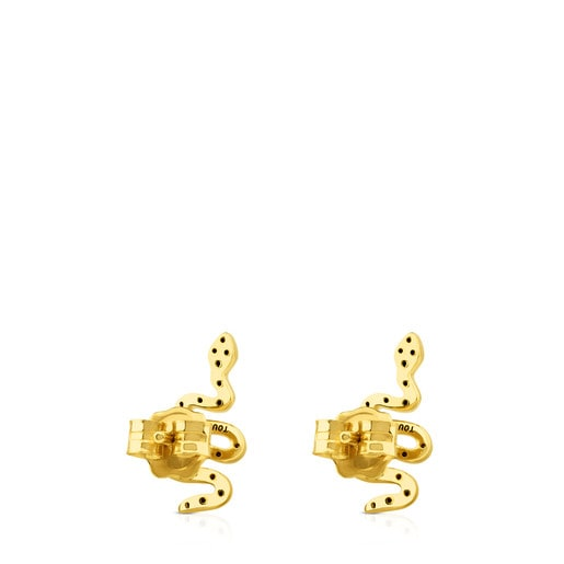 Aretes Gem Power de Oro con Diamantes