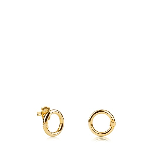 Silver Vermeil Hold Earrings