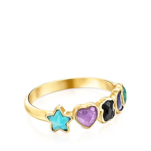 Glory Ring in Silver Vermeil with Gemstones