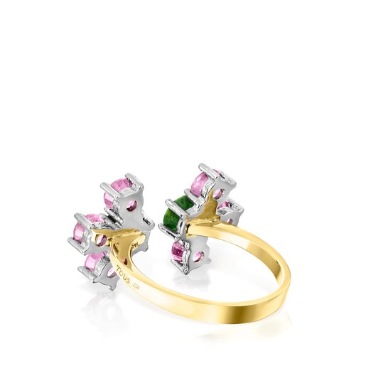 Gold and Titanium Real Sisy Ring with Gemstones