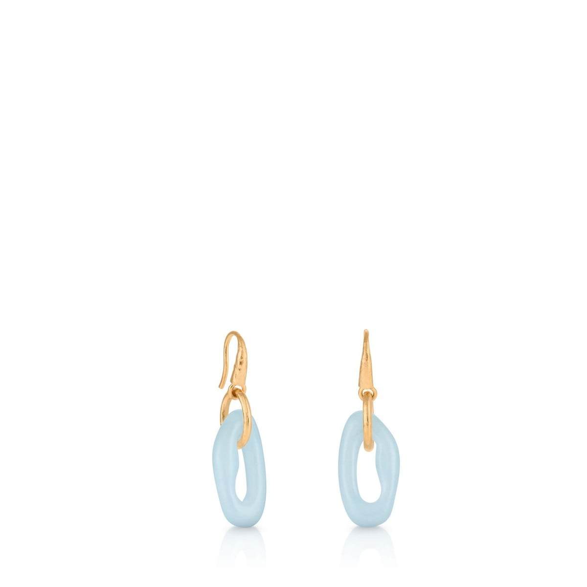 Vermeil Silver Duna Earrings with Chalcedony