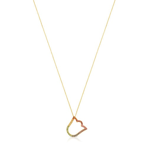 Gold Icon Gems Necklace with Gemstones