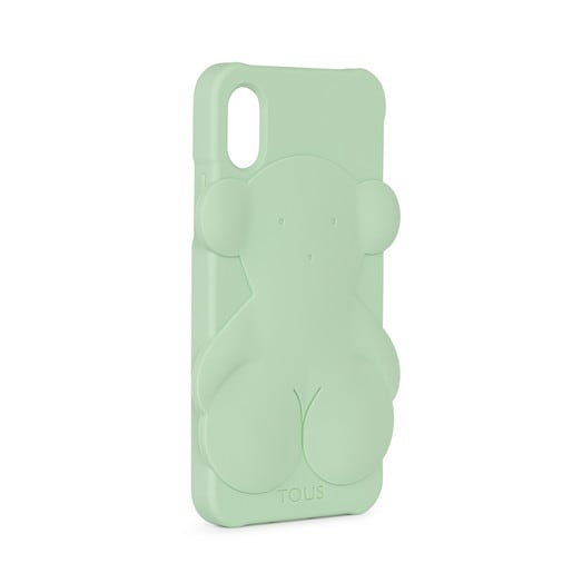 Funda de móvil iPhone X Rubber Bear en color verde