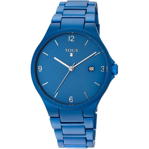 Blue anodized aluminum Motion Aluminio Watch