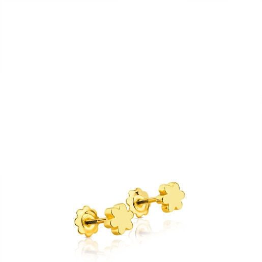 Gold Puppies Earrings