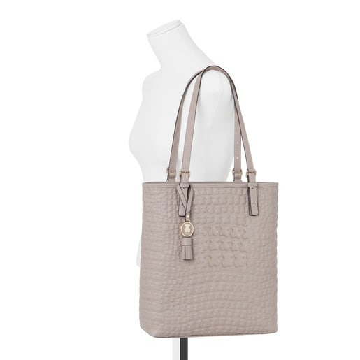Taupe colored Leather Sherton Shopping bag