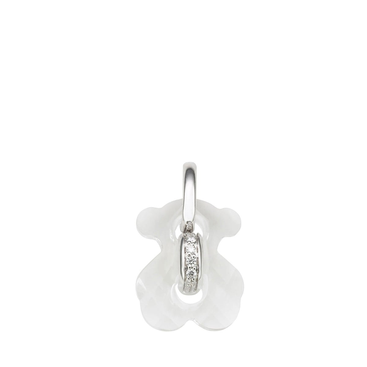 White Gold Cruise Pendant with Quartz and Diamond