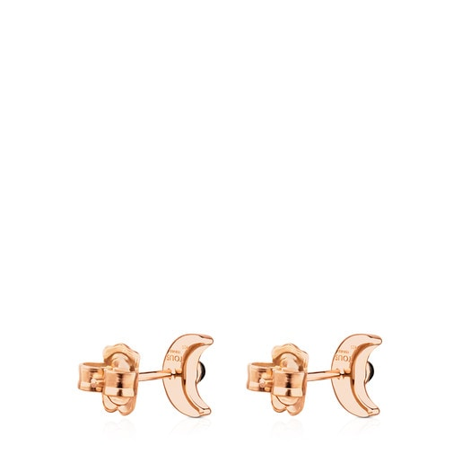 Rose Vermeil Silver Super Power Earrings with Spinel