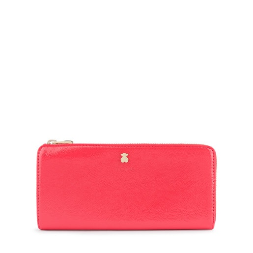Medium coral Dorp wallet