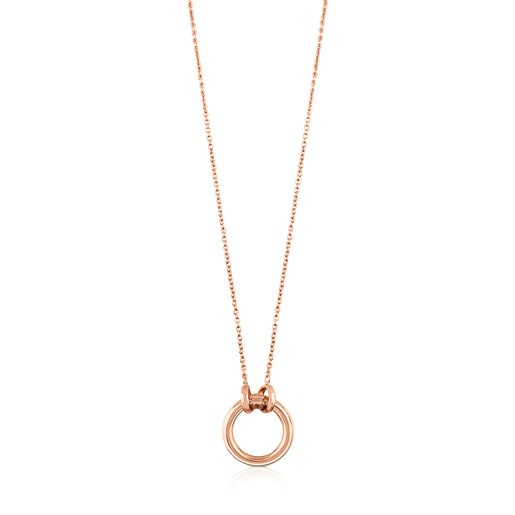 Rose Vermeil Silver Hold Necklace