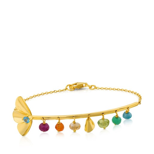 Gold Happy Moments Bracelet with Gemstones