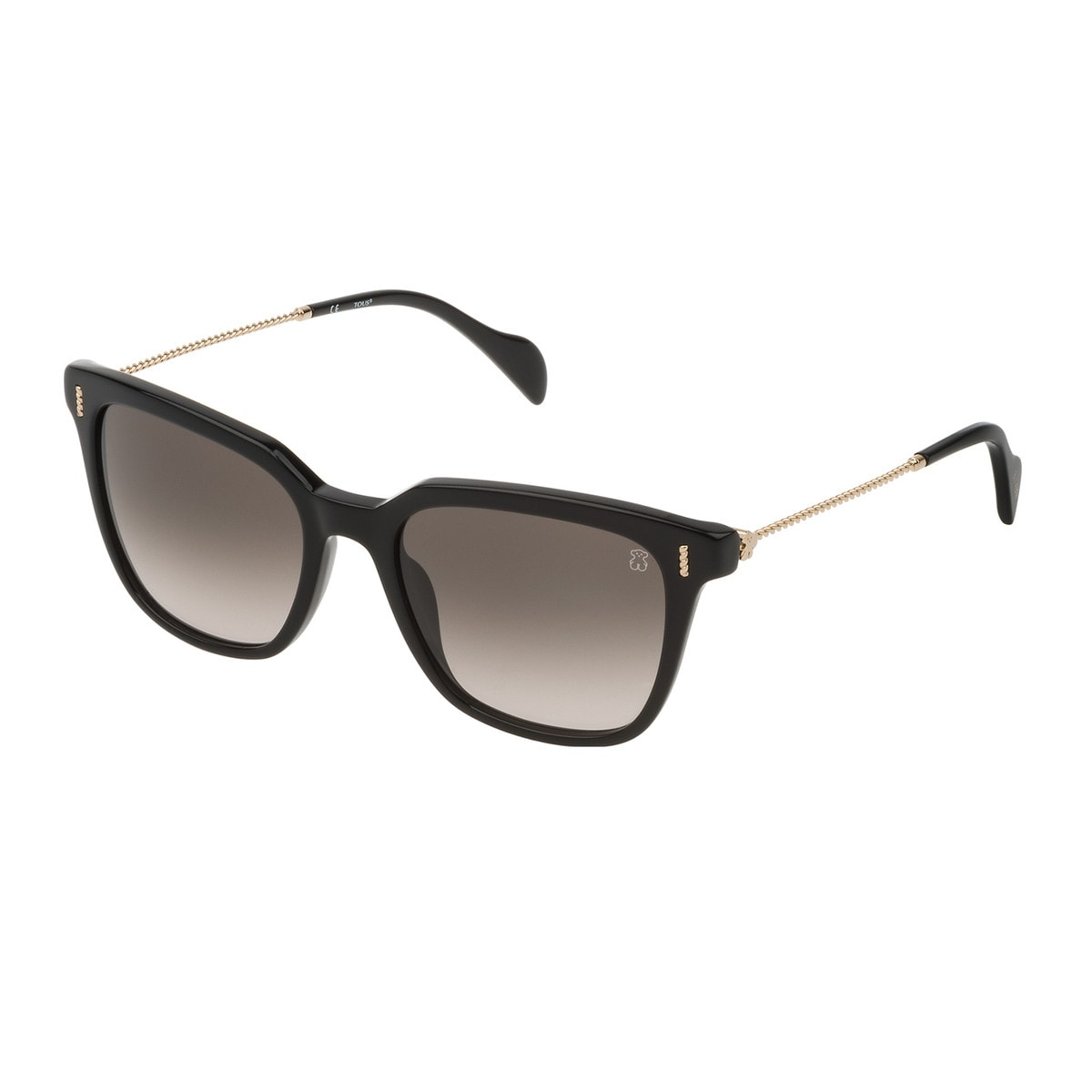 Black Acetate Braided Squared Sunglasses