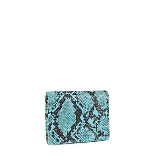 Small blue Dorp Wild wallet