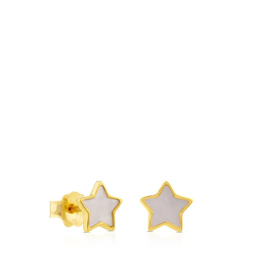 Gold and Mother-of-pearl XXS star Earrings