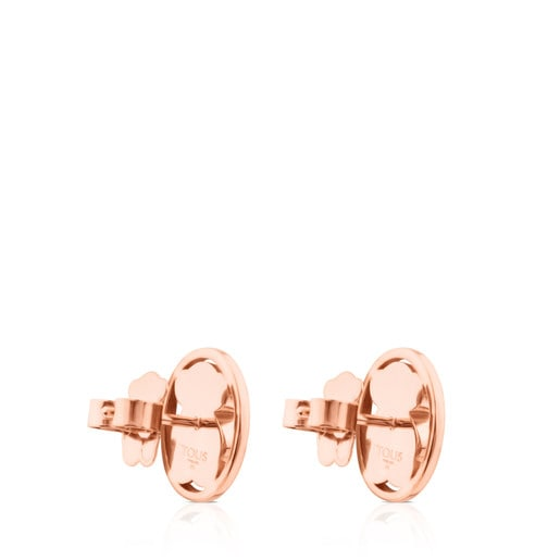 Rose Vermeil Silver Camille Earrings with Rhodonite