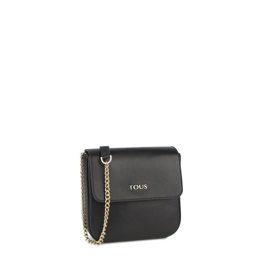 Black Leather Rene Crossbody bag