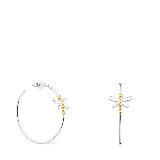 Silver and Silver Vermeil Real Mix Bera Earrings