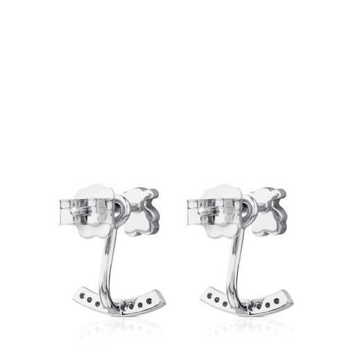 White Gold Puppies Earrings with Diamonds