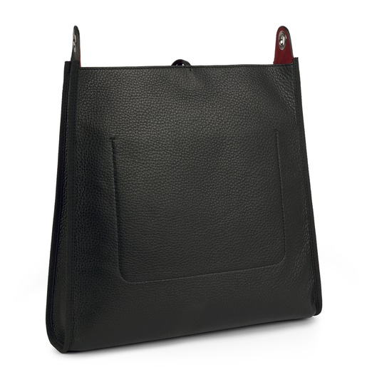 Black leather Leissa shoulder bag