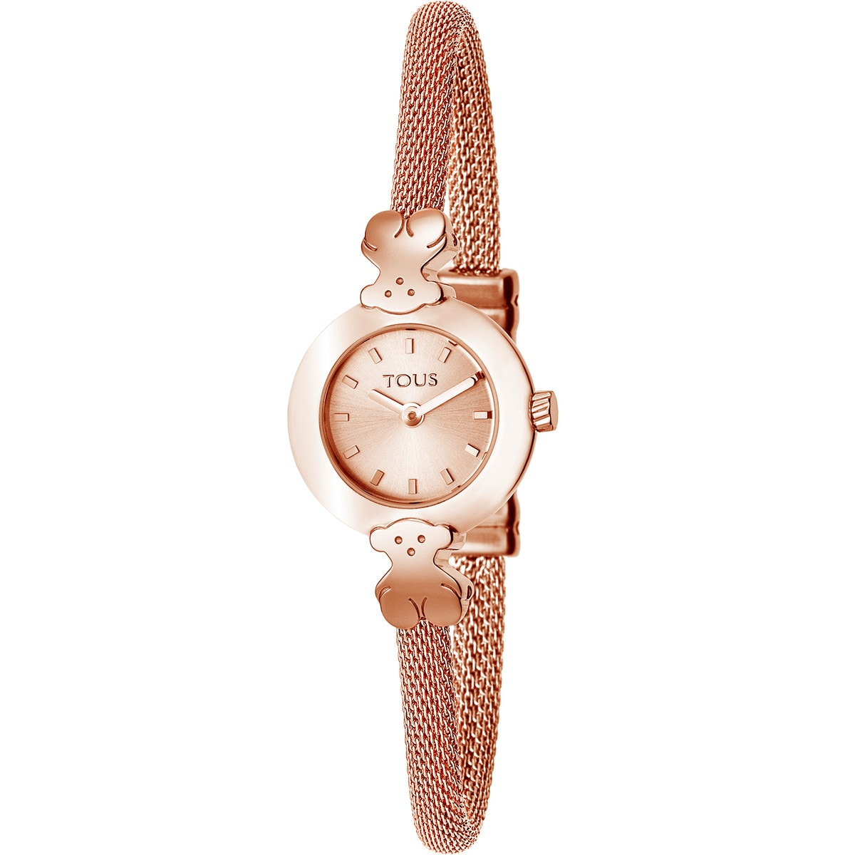 Pink IP Steel Icon Mesh Watch
