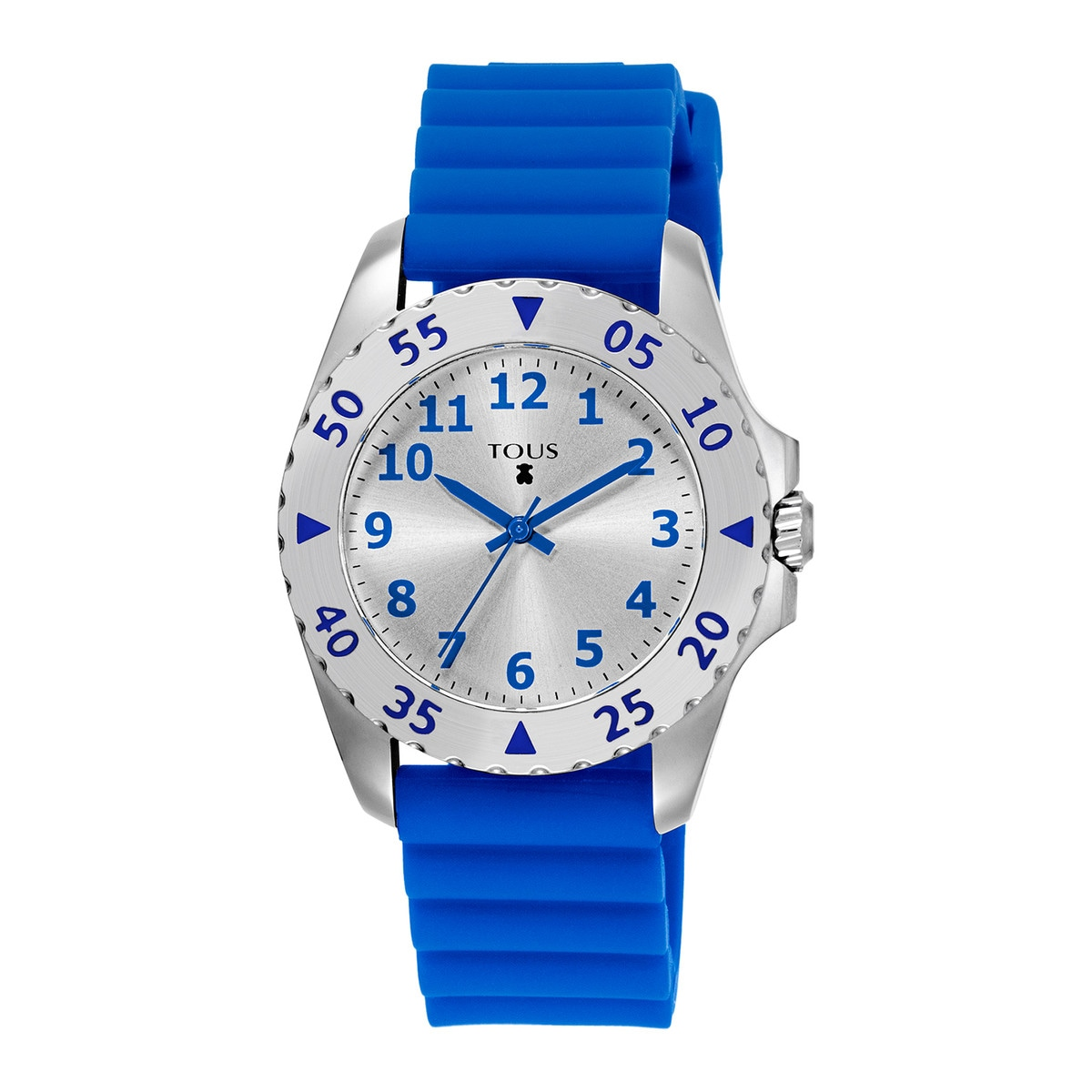 Steel Motif KDT Watch with blue Silicone strap