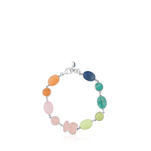Pulsera New Color de Plata con Gemas
