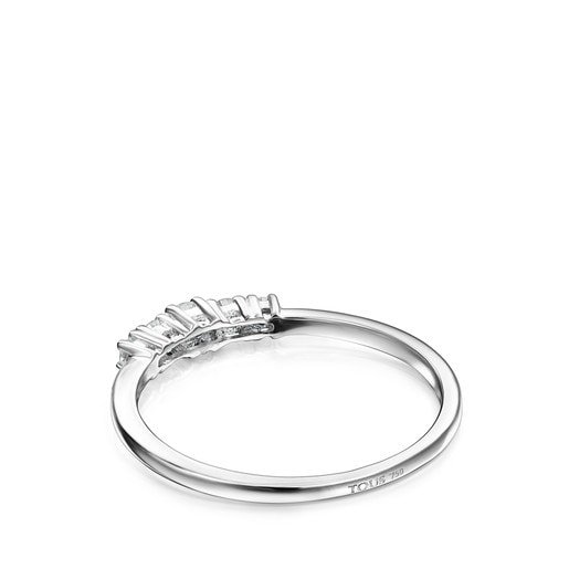 Riviere Ring in White gold with Diamonds