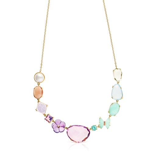 Vita Necklace in Gold with Gemstones