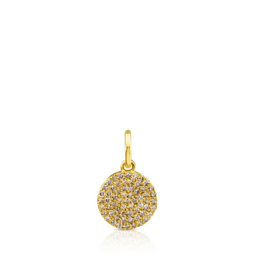 Gold Gem Power Pendant with Diamonds