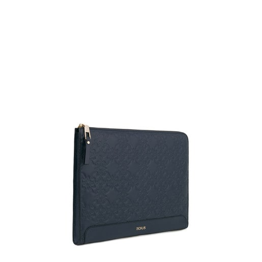 Navy colored Leather Mossaic Document Holder