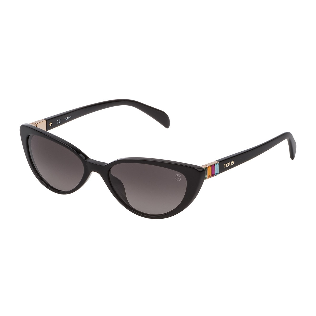 Black Acetate Gems Sunglasses