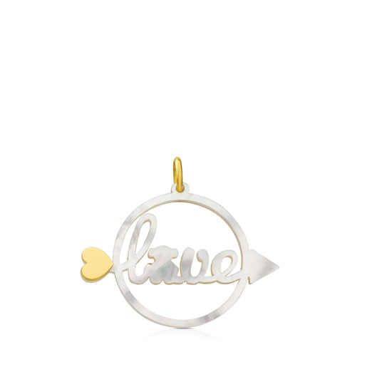 Gold San Valentin Pendant with Mother-of-Pearl