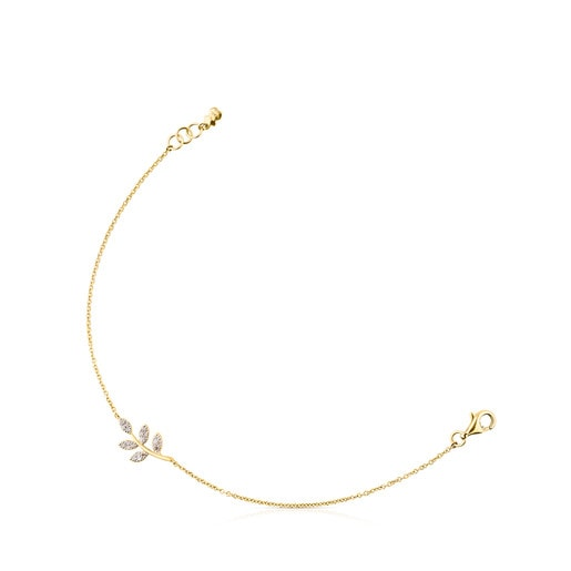 Gold Gem Power Bracelet with Diamonds