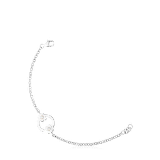 Pulsera Super Power de Plata con Perlas