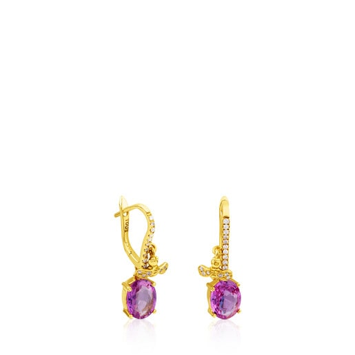 ATELIER Precious Gemstones Earrings in Gold with Diamonds and Sapphires