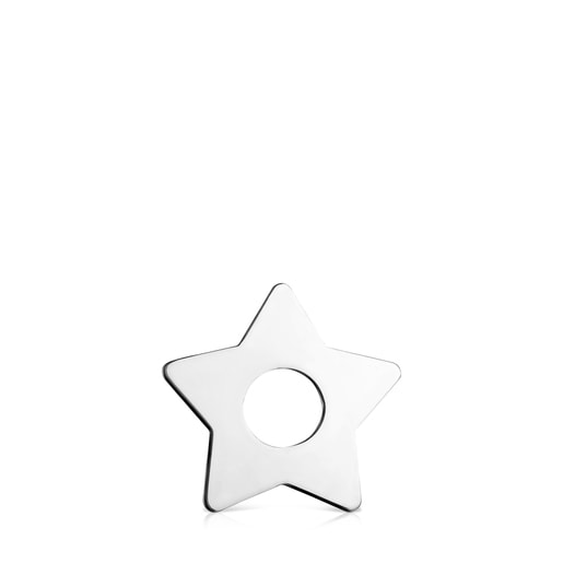 Small Hold Metal Silver Star Pendant