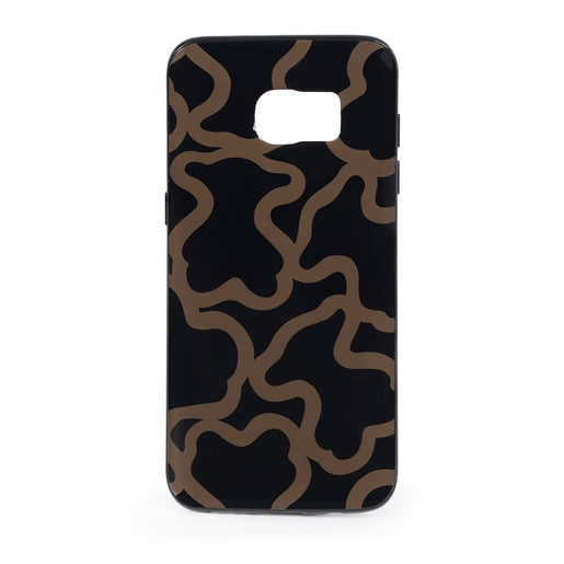 Funda de móvil Samsung Galaxy S7 Edge Kaos en color negro-camel