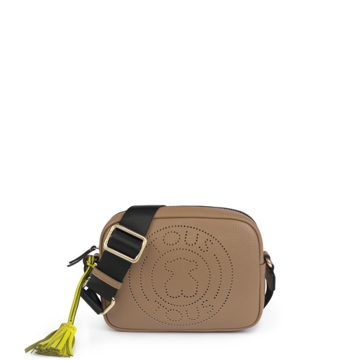 Small leather stone Leissa crossbody bag