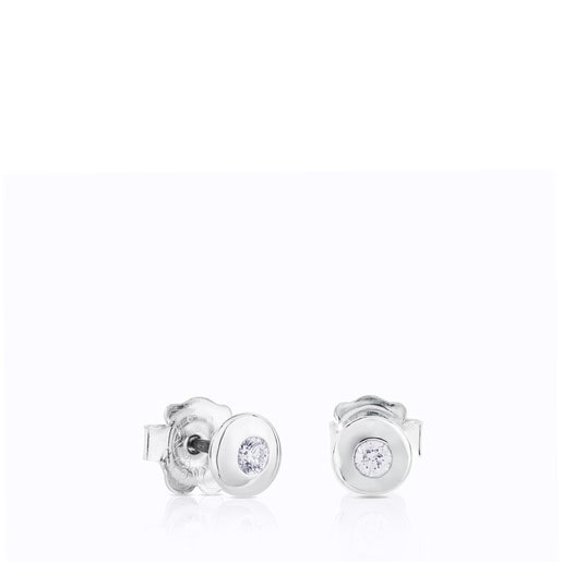 Aretes TOUS Diamonds de Oro blanco con Diamantes