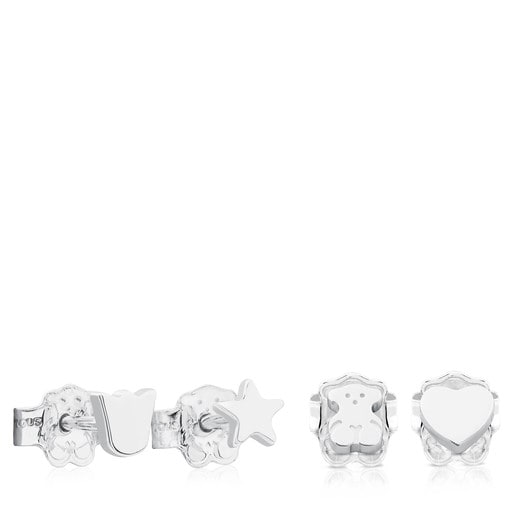 Silver TOUS Basics Earrings